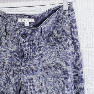 Cabi blue and grey patterned skinny jeans unicorn